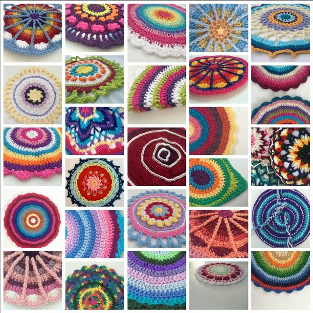 august crochet collage mandalasformarinke