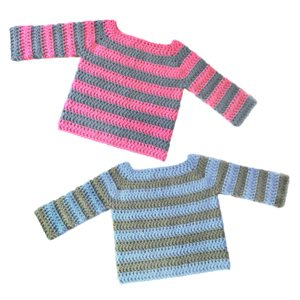 striped crochet baby sweater