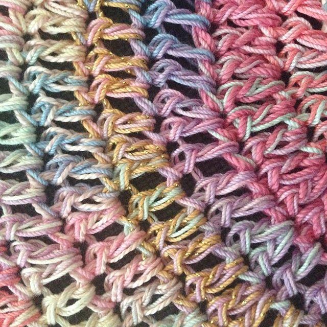 thread crochet mandala gold