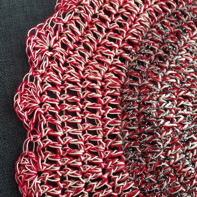 thread crochet mandala red