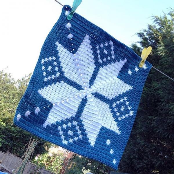 tintocktap tapestry crochet snowflake