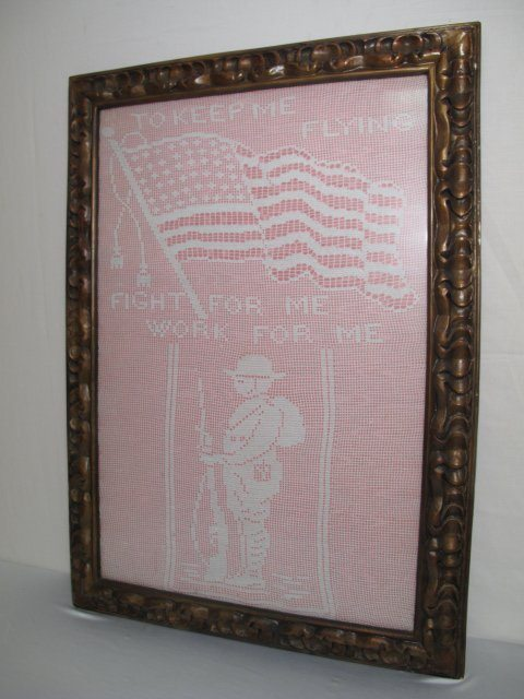 vintage world war 1 filet crochet
