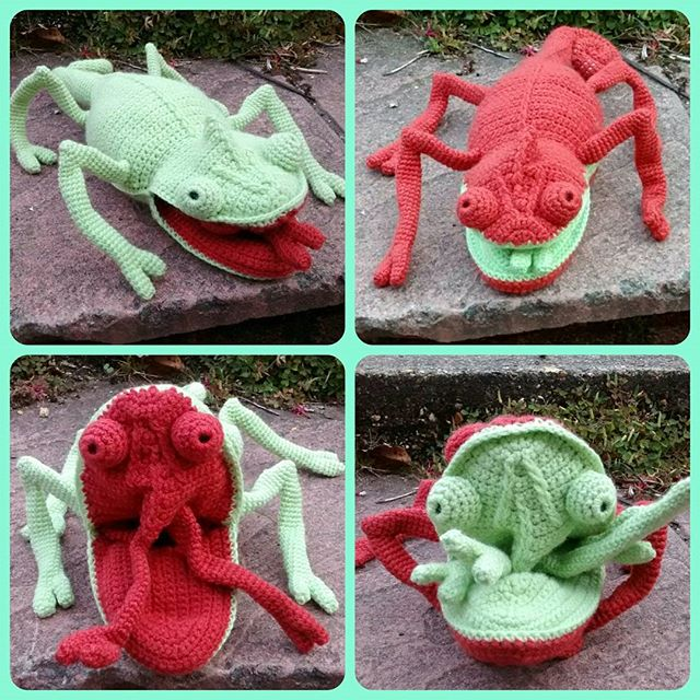 78th_stitch crochet chameleon
