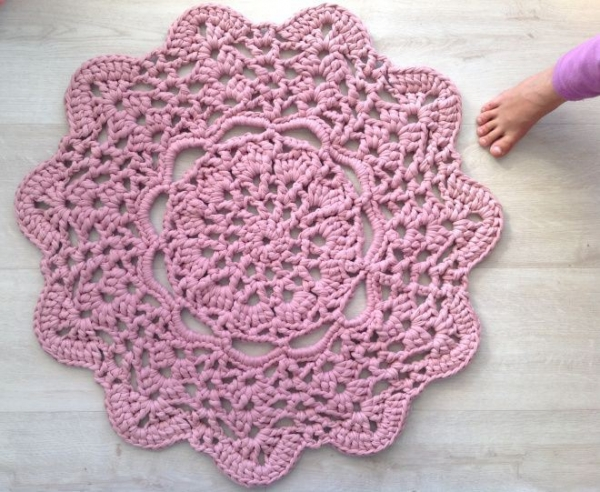 shirt yarn doily rug free crochet pattern from Crochet in ...