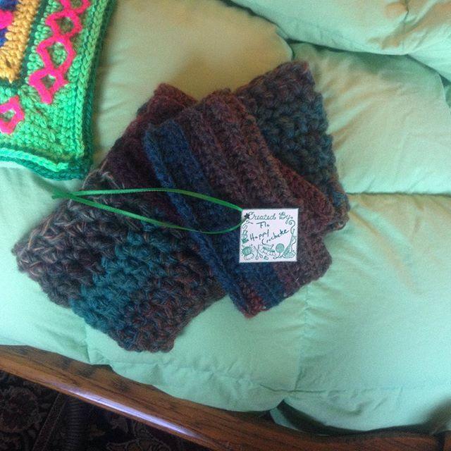 ahappycrocheter working on crochet gifts