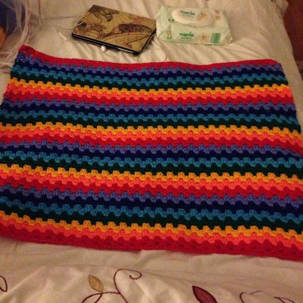 amyflower_vintage_handknits crochet rainbow granny