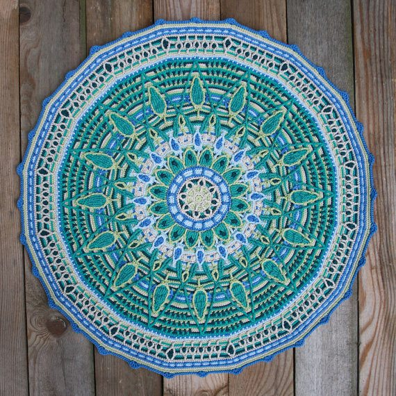 blue crochet mandala pattern by carocreated