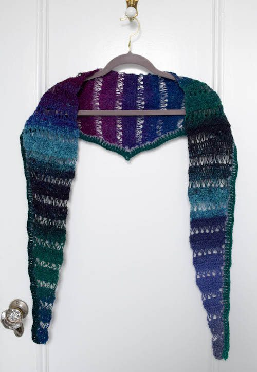 broomstick lace shawlette free crochet pattern
