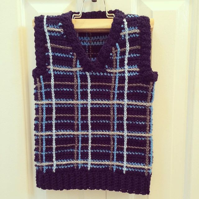 carefulcatherine crochet plaid shirt