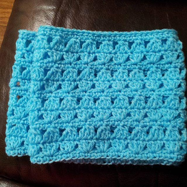 carolrmckay crochet blue cowl