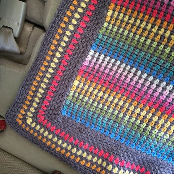 caswelljones rainbow colorful crochet blanket