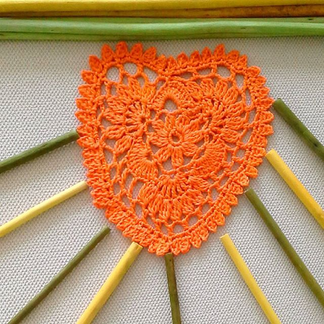 ceyhan65 crochet orange heart