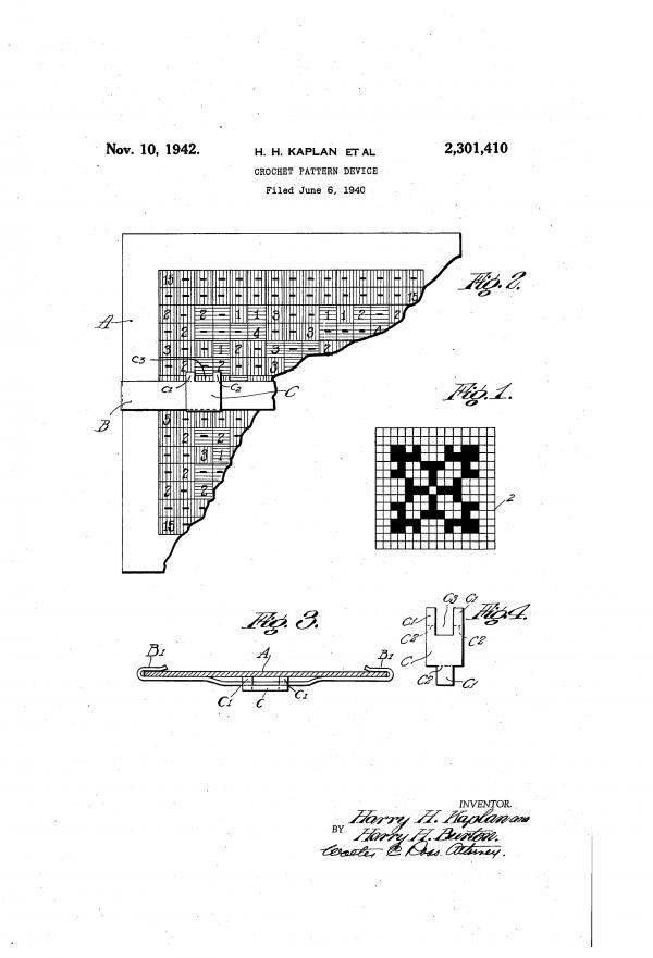 crochet 1942 patent history