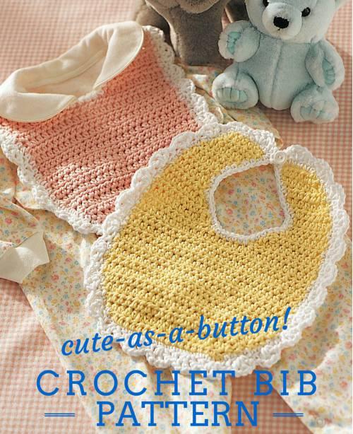 crochet baby bib free pattern