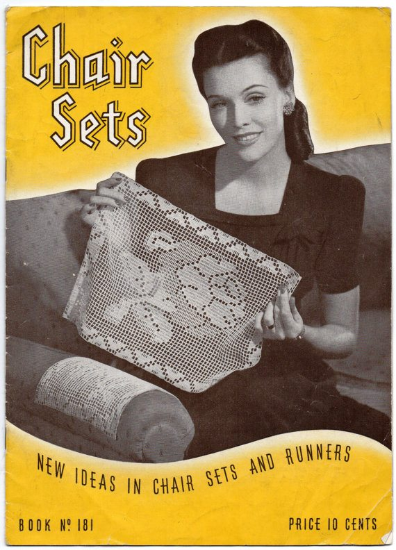 crochet chair sets book 1942