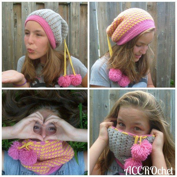 crochet cowl hat free pattern