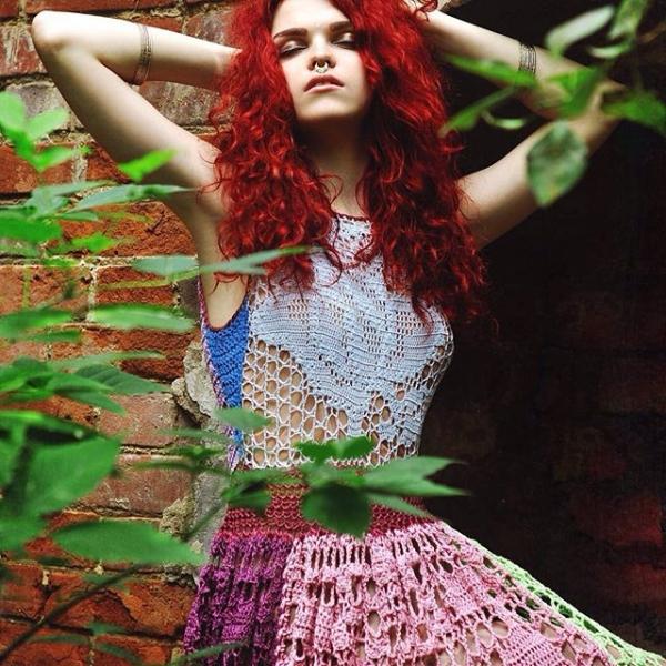 crochet fashion dress photography