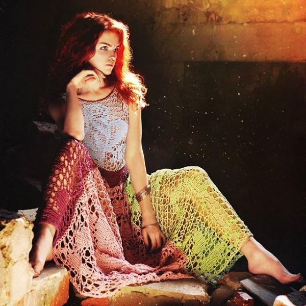 crochet fashion photography redhead