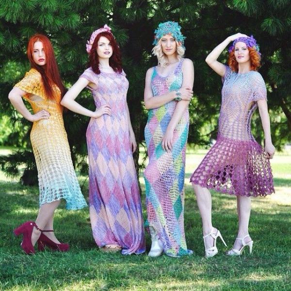 crochet fashion shoot