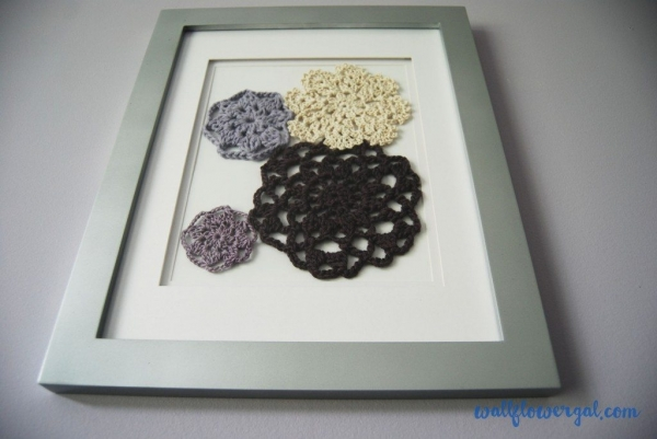 crochet flower motif art