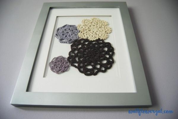 crochet flower motif art
