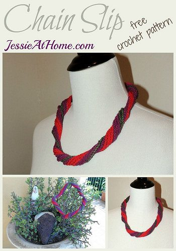 crochet jewelry free pattern - chain necklace