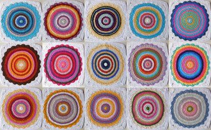 crochet mandala compilation blanket