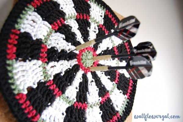 crochet mandala dartboard free pattern