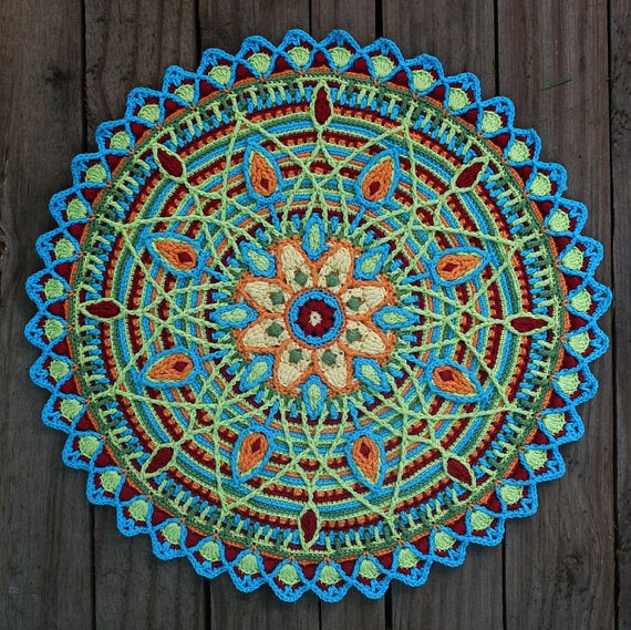 crochet mandala design pattern by carocreated