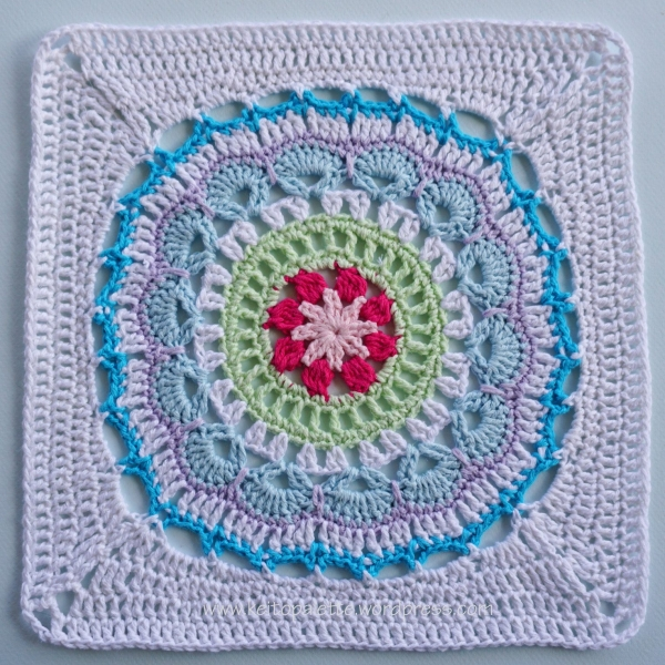 crochet mandala square pattern