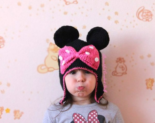 crochet minnie mouse hat free pattern