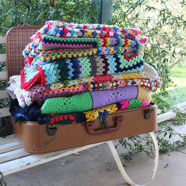 crochetgirl99 crochet granny blanket stick