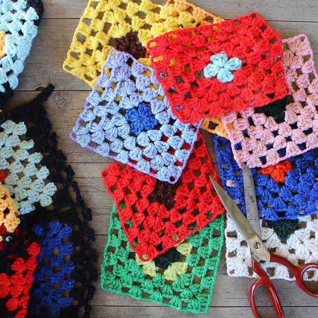 crochetgirl99 granny square colorful makeover
