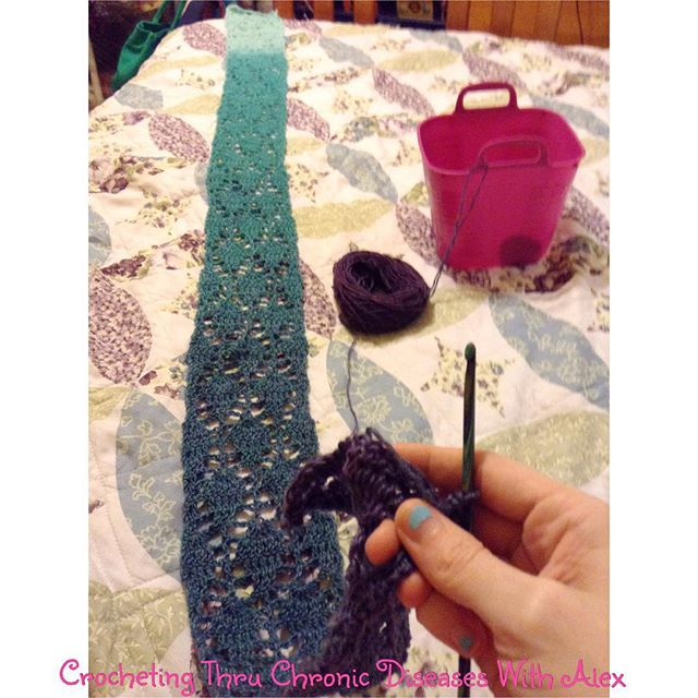 crochetingthruchronicdiseases crochet WIP scarf