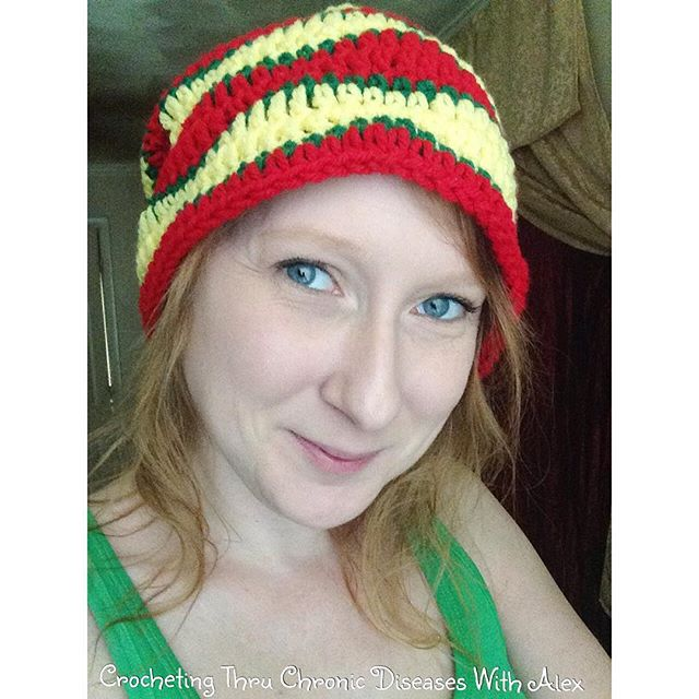 crochetingthruchronicdiseases crochet wave stripe hat