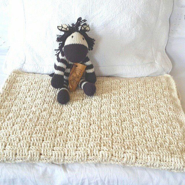 daisy_flower9 crochet basketweave blanket
