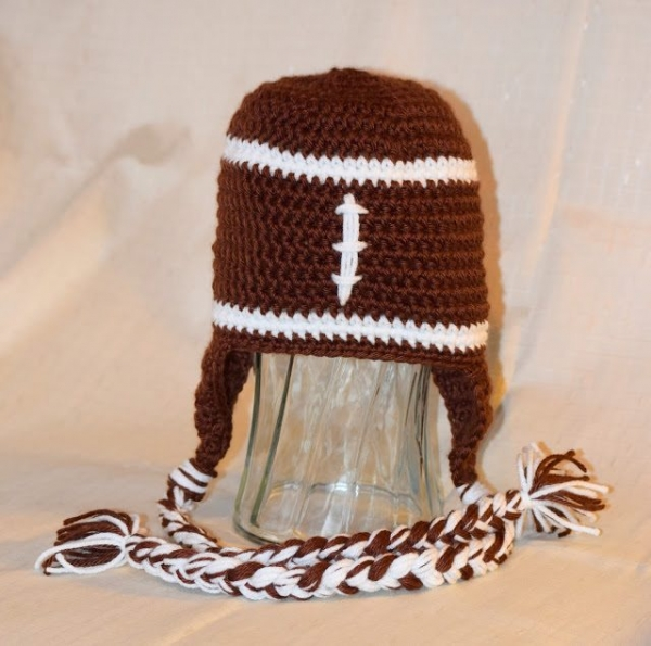 football crochet hat pattern free