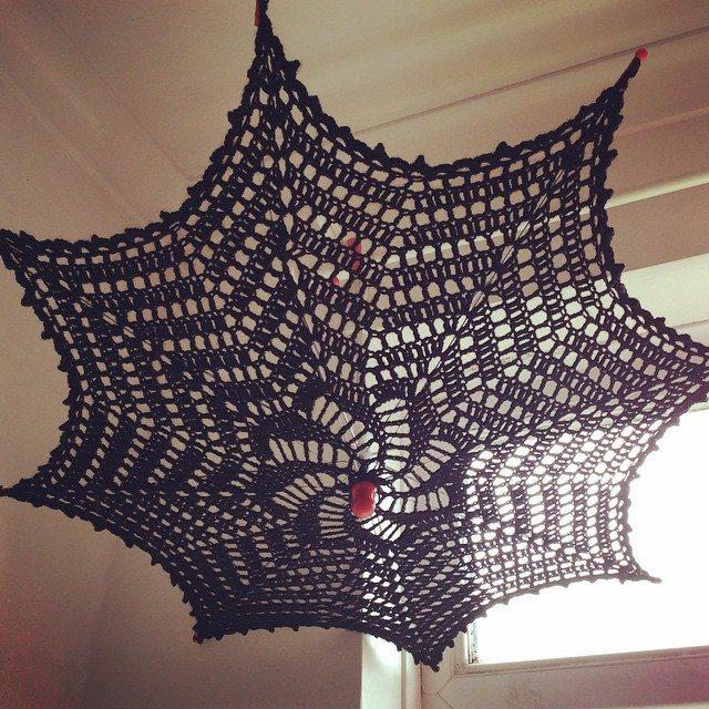 gingerbreadbunny crochet parasol on display