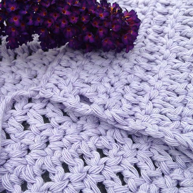 gooseberryfool crochet cushion purple
