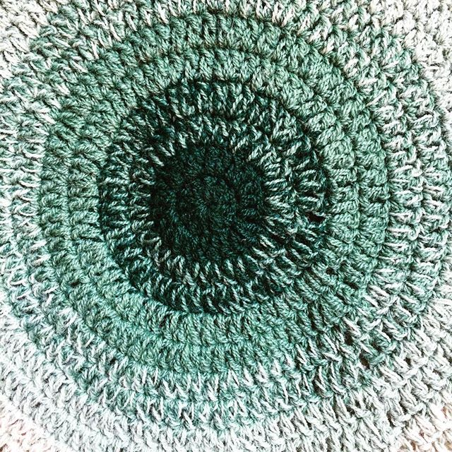 green ombre crochet mandala