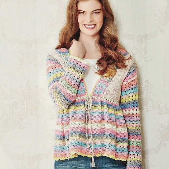 hookybren crochet striped cardi design ideasmagazine