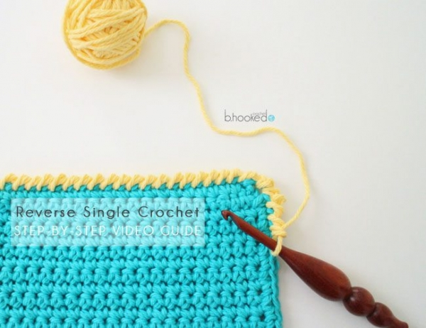how to reverse single crochet