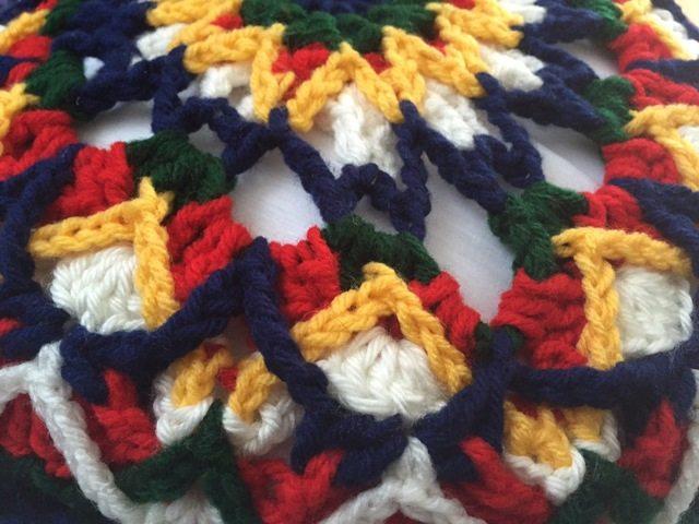 mandala pillows crochet seafoam