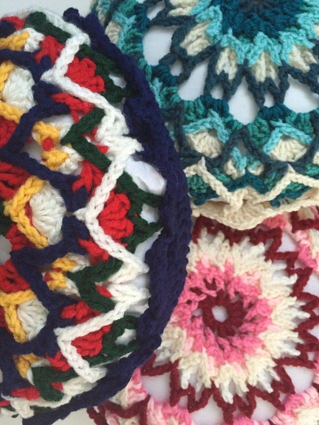mandalasformarinke crochet pillows