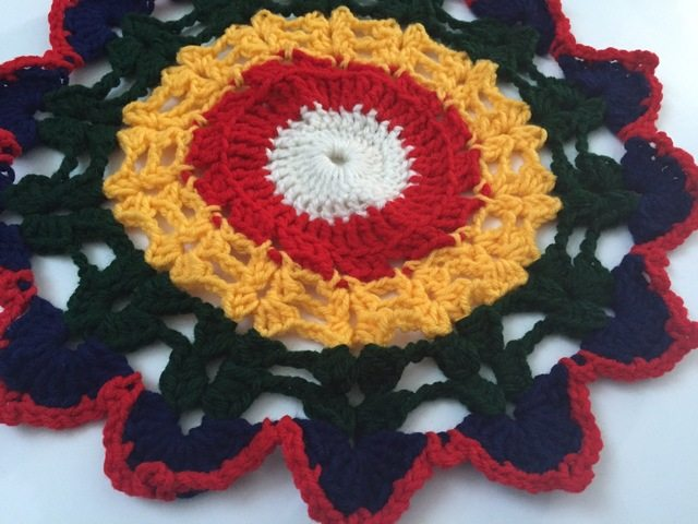 buddhist art crochet mandala