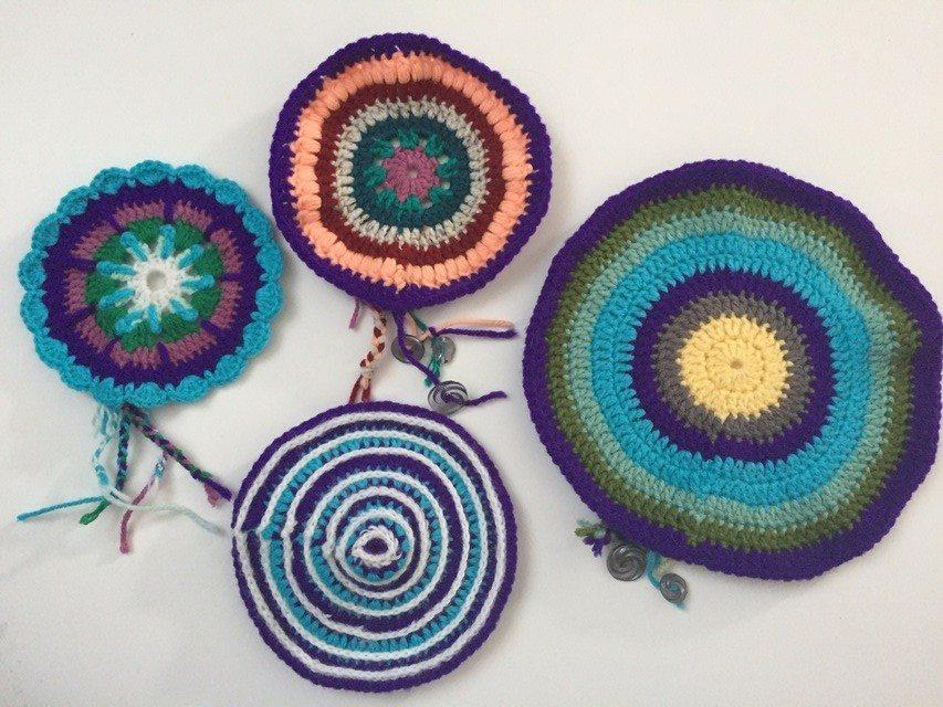 crochet mandalas by lrayborn