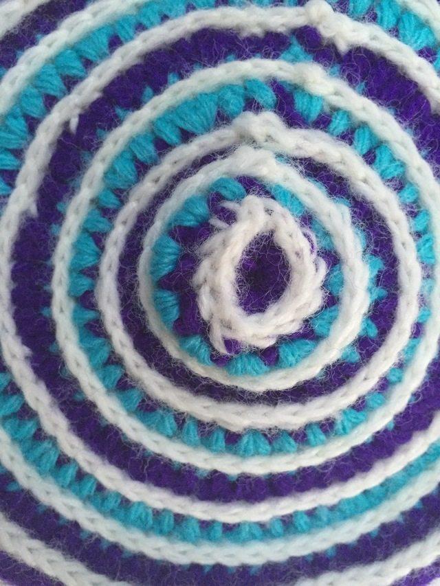 circular crochet mandala