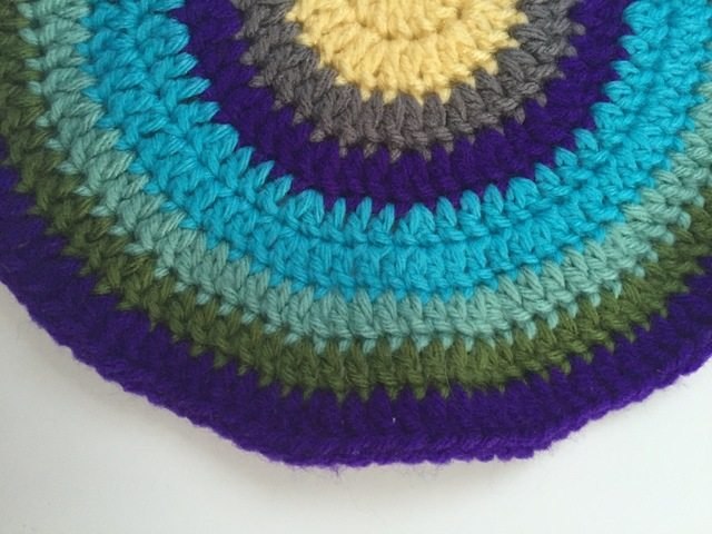crochet mandala blue green purple