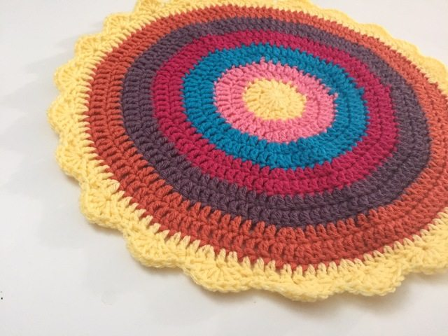 yellow edge crochet mandala
