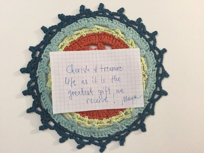 cherish life crochet mandala